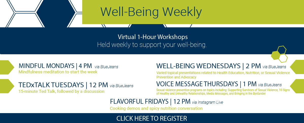 well-being weekly flyer
