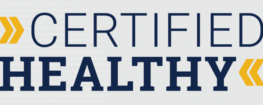 Certified Healthy banner