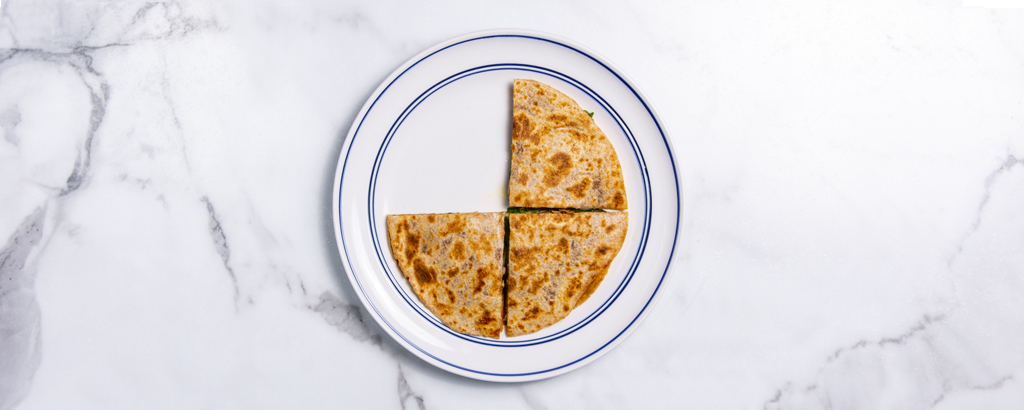 quesadilla on a plate