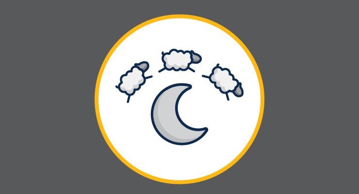 There are 3 sheep jumping over the moon